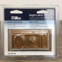 New Ilco Night Latch Door Lock Key Included Model # 220-53-51 Free Shipping