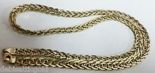 "14kt Yellow Gold 17"" Heavy Fancy Link Chain 5mm Necklace 9g Elegant Gorgeous"