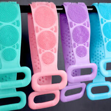 Bath Shower Silicone Body Scrub Brush Bath Belt Exfoliating Cleaning Back Towel
