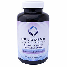 Relumins Advance Vitamin C MAX Skin Whitening w/RoseHips+Bioflavonoids -180 Caps