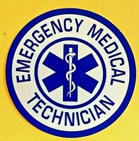EMERGENCY MEDICAL TECHNICIAN Star of Life Highly Reflective EMS Round Decal