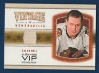 GLENN HALL 03-04 IN THE GAME VIP 03-04 VINTAGE MEMORABILIA JERSEY RARE 16200