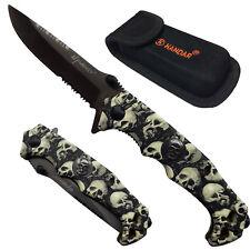 Taschenmesser - Totenkopf - Outdoor  220 g, Skull  Klappmesser Etui mit Tasche