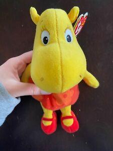 "TY Beanie Babies Backyardigans Tasha Hippo  6.5"" Plush Doll"