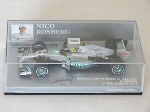 Nico Rosberg Mercedes W03 1st Win China GP 2012 Limited Edition Minichamps 1:43