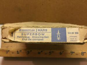 Vintage Staedtler Mars Superbow Drawing Set Compas 553 00 SKN Germany