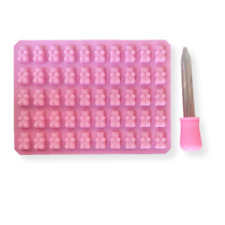 Homemade Gummy Bear Making Kit Silicone Mold and Dropper (Pink) | Bakell®