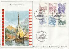 1er jour MONACO d'AUTREFOIS 1984 : Timbres N°1404 à 1411 : Env grand format + 2