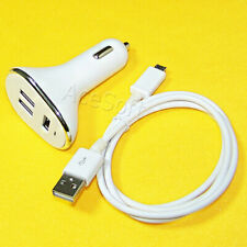 3-Ports USB 3.0 Car Charger 3ft USB Data Cable for Samsung Galaxy S3 SGH-I747
