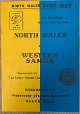 More details for north wales v samoa 1988 rugby union