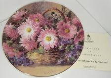Royal Worcester-los crisantemos & Violetas-Placa de la colección de Ramos de la naturaleza