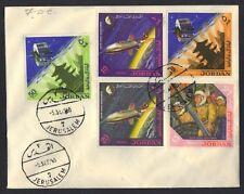 JORDAN PALESTINE 1965 SPACE ASTRONAUTS & SATELITE COMPLETE SET ON FDC JERSALEM