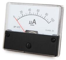 Misuratore 0 - 100 UA DC per l'installazione, amperometro analogico con shunt