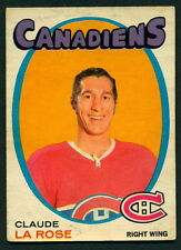 1971 72 OPC O PEE CHEE 146 CLAUDE LAROSE EX-NM MONTREAL CANADIENS HOCKEY CARD