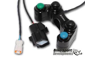 Ducati 1098,848 race bike 4 button handlebar switch,  Mode and Nemesis TC+ / TC-