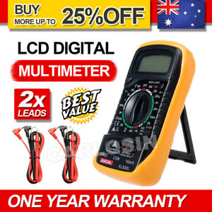 Digital Multimeter Electrical LCD Meter AC/DC Volt Current OHM Multi Tester New