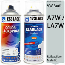 Autolack Lackspray Set VW Audi A7W / LA7W REFLEXSILBER Metallic Spray + Klarlack