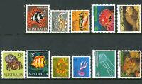 Australia 1966-1984 Marine Life Stamps SET 11x[1c-10c] 1st 2nd 3rd Series Issues