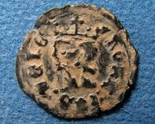 Crusaders times Medieval Christian coin with CASTLE & KING.