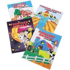 12 Farm Barnyard Animals Coloring Book Kid Party Goody Bag Filler Favor Supply