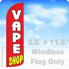 VAPE SHOP - WINDLESS Swooper Feather Flag 2.5x11.5' Banner Sign - rz