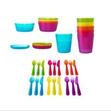 Ikea Kalas kids tablewear Discontinued Colors bowls, plates, cutlery, & cups