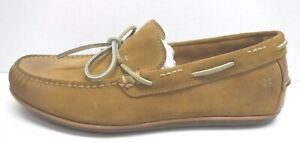 Frye Size 10 Tan Oil Suede Boat Shoes New Mens Shoes
