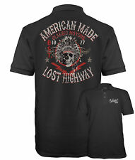 Camisa Polo para hombre velocitee Jefe Indio Americano Motocicleta Calavera A17781