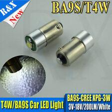 2pc Super bright 3V 6V 12V 18V CREE 3W LED bulb BA9S T4W Car Light 200LM 6000K