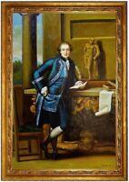 ÖLBILD Porträt des Charles Crowle Pompeo ÖLGEMÄLDE Gemälde HANDGEMALT F:60x90cm