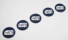 10 Blue PVC NFC Tag Sticker NTAG213 30mm Samsung Nokia Sony LG HTC Android