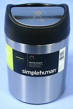 Simplehuman 1.5L Trash Can Garbage - Countertop - CW1637CB