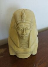 Rare Pharaoh Bust Sculpture Egyptian Antique Head Queen Stone Carved Statuette