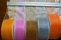 Mesh Sparkling Firm Edge 5 Mtr Lengths 6cm Wide 5 Colour Choice 5902