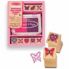 *NEW* Mel & Doug Wooden Butterfly Hearts Stamper Set