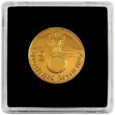 +++ 2 Reichsmark 1938 mit HK und Kapsel - 24 Karat vergoldet +++