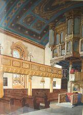 0308- Ev. Kirche zu Remscheid, künstlerischer Entwurf zum Innenraum (19. Jhd)