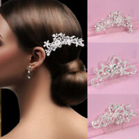 Fashion Wedding Hair Pins Clip Comb Bridal Crystal Pearl Bridesmaid Accessories
