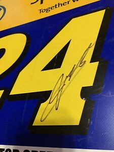Jeff Gordon Autographed Atlanta Motor Speedway Race Used Nextel Cup Garage Sign