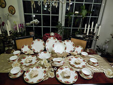 edles Speiseservice Royal Albert England Old Country Roses mit Suppentassen