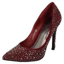 Scarpe da donna rossa camoscio sintetico di sera