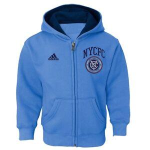 New York City FC MLS Toddler's Light Blue Full Zip Graphic Fleece Hoodie