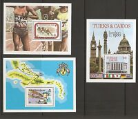 Turks & Caicos SC # 353-359-433 Three different souvenir sheets . MNH