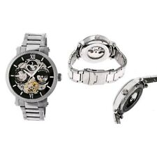Heritor Automatic Men's 'Aries Skeleton' Chinese Stainless Steel Watch, Silver