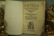 rare antique Book 1536 Latin almost 500 years old Marcus Tullius Cicero