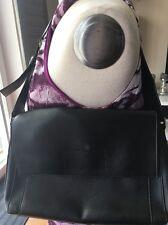 Esprit Handtasche Leder schwarz Schultertasche