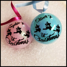 Personalised 8cm Baby 1st Christmas Bauble For Xmas Tree Decoration