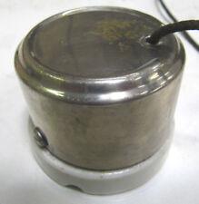 Antique 1906 Industrial GE Pull Switch Porcelain Body 10A 125V- 5A 250V