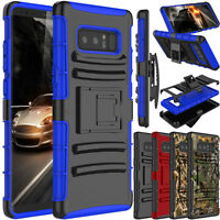 For Samsung Galaxy Note 8 Phone Case Hybrid Rugged Clip Holster Stand Hard Cover