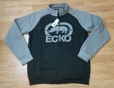 New With Tags Ecko Unltd  Zipper Sweatshirt (Large) Black & Gray / MSRP $68